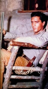 """Elvis During A Break Filming the Movie, """"Flaming Star""""---1960...What A Great """"Unscripted"""" Pose!!"""