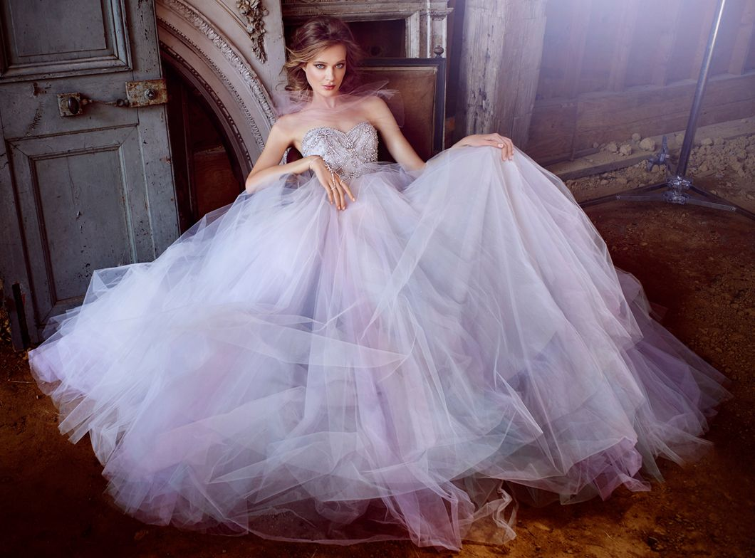 Wisteria Tulle Bridal Ball Gown Strapless Sweetheart Neckline