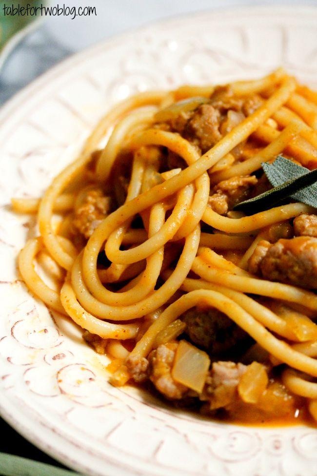Pumpkin Pasta with Turkey Sausage   Recipe   Pumpkins, Spinach and ...