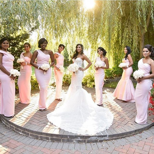 This is the definition of #squadgoals! 💖 Congrats to bride ...