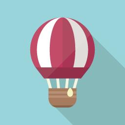 気球のフラットアイコン フラットアイコン アイコンデザイン アイコン