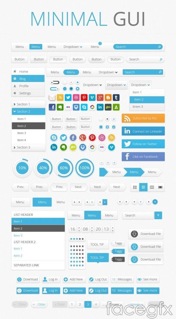 Minimal Gui Interface Psd Web Design Free Web Design Gui Design