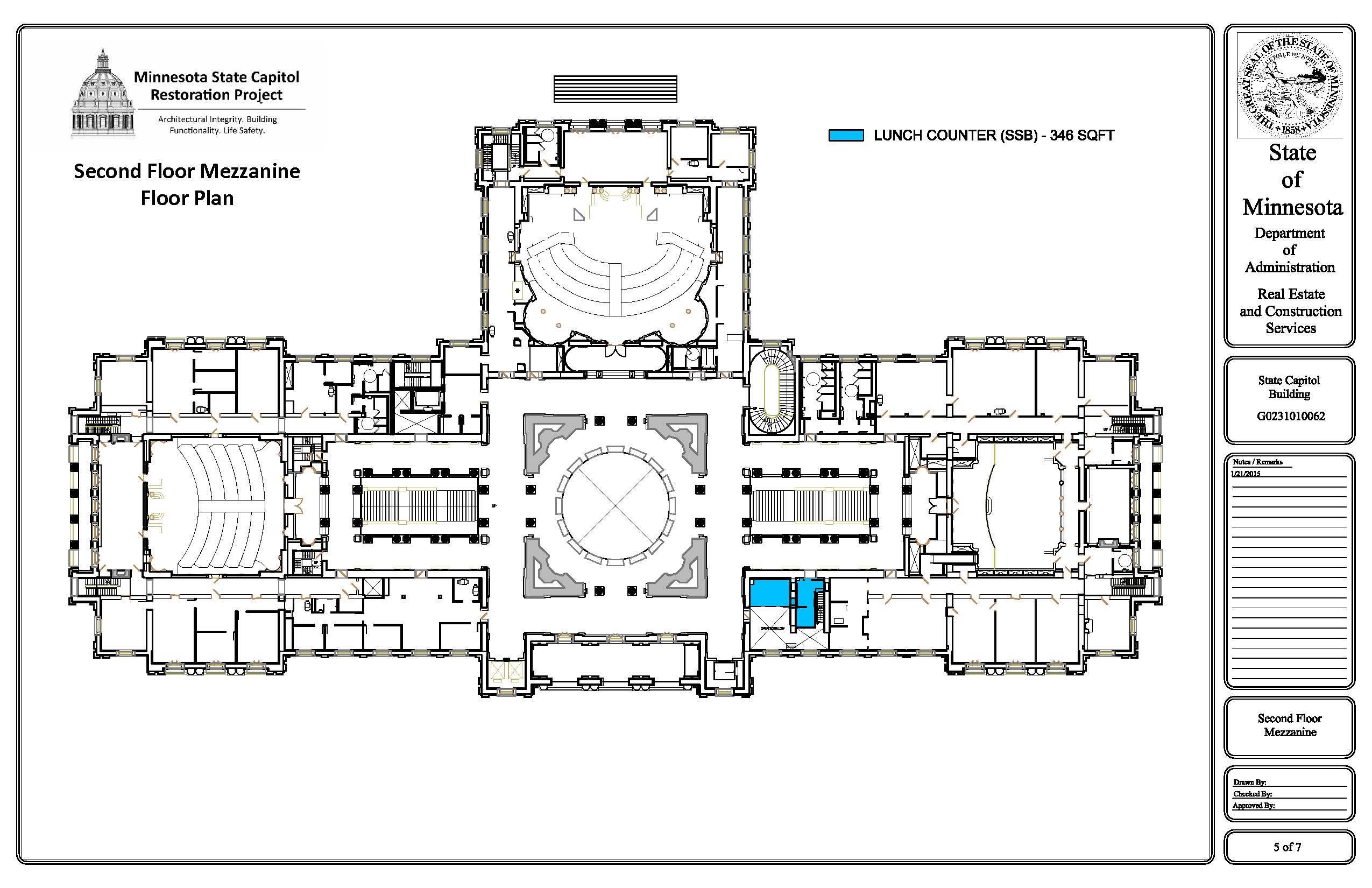 2015 Minnesota State Capitol Second Floor Mezzanine Future Occupancy Plan 2550 1650 Floor Plan Generator Farmhouse Floor Plans Floor Plans
