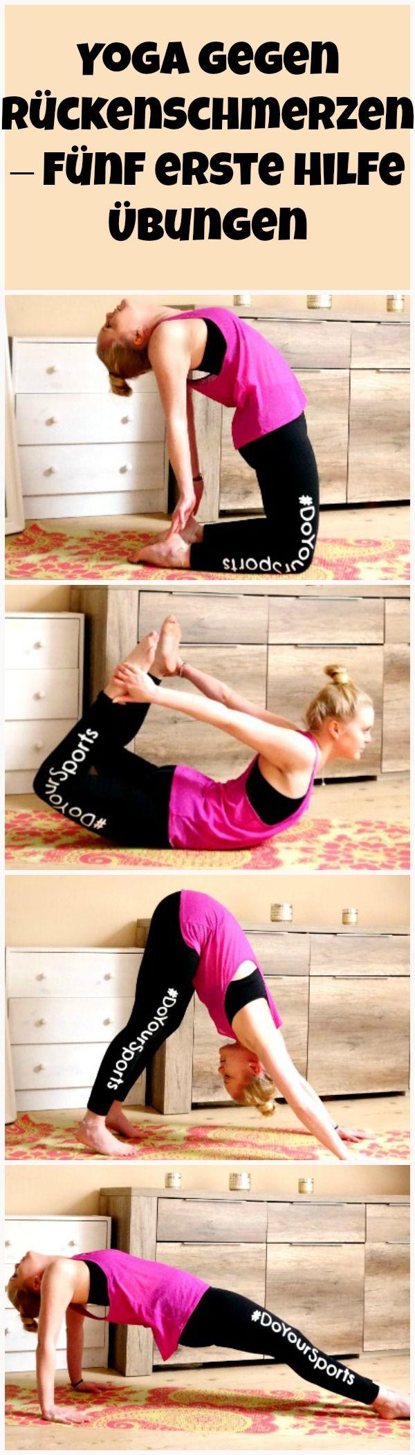 Yoga gegen Rückenschmerzen Teil 1 - Fünf erste Hilfe Übungen #pilatesposes