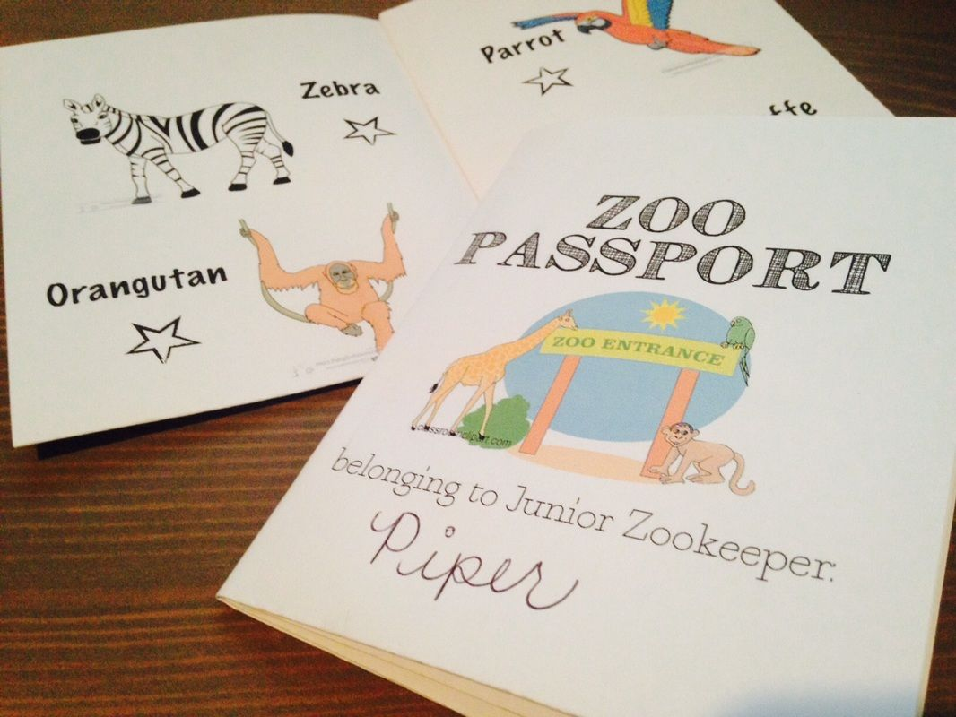 Free Printable For A Super Easy To Assemble Zoo Passport