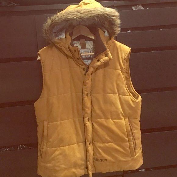 Burton vest XL burton vest, detachable hood, suede material. Burton Jackets & Coats Vests