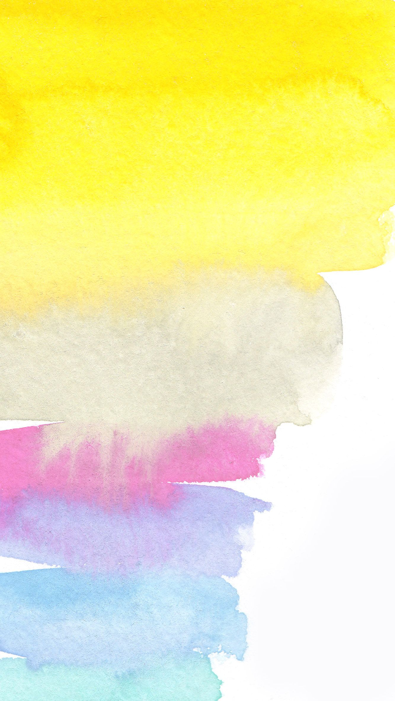 Yellow White Pink Lilac Blue Watercolour Brush Strokes Art Iphone Wallpaper Phone Background Lock Screen