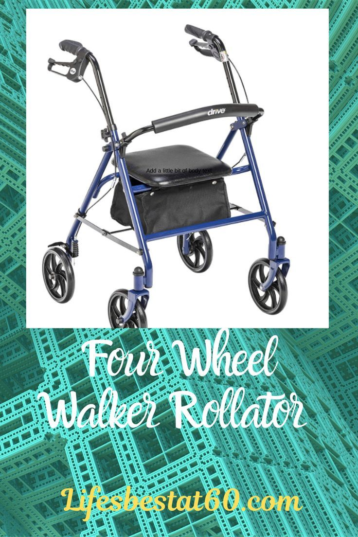 Four Wheel Rollator provides reliable support with maximum