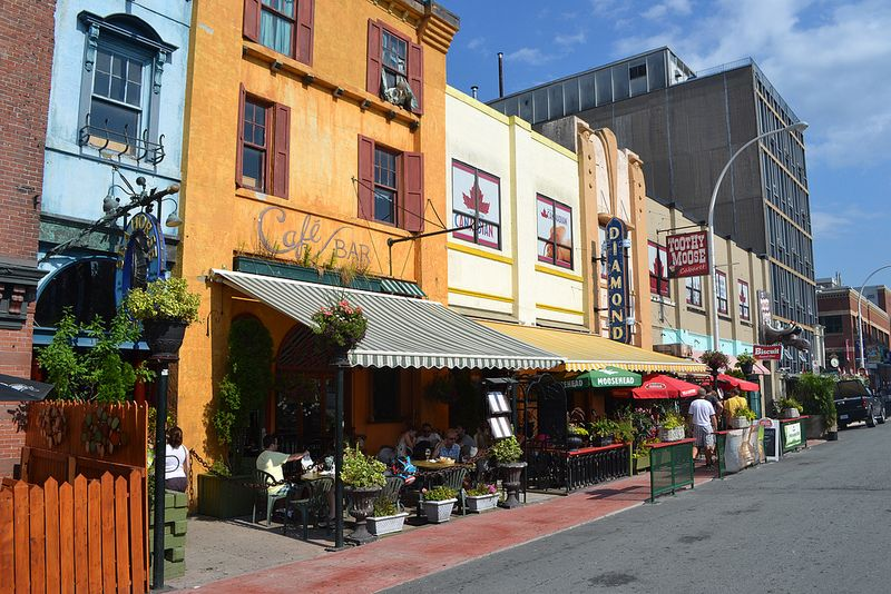 Sidewalk Cafes In Halifax Nova Scotia Canada Halifax Sidewalk Cafe East Coast Travel