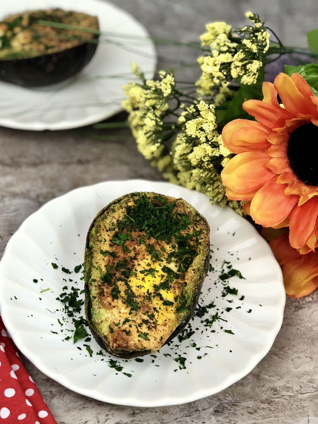 Air Fryer Baked Avocado Egg Recipe Keto Baked