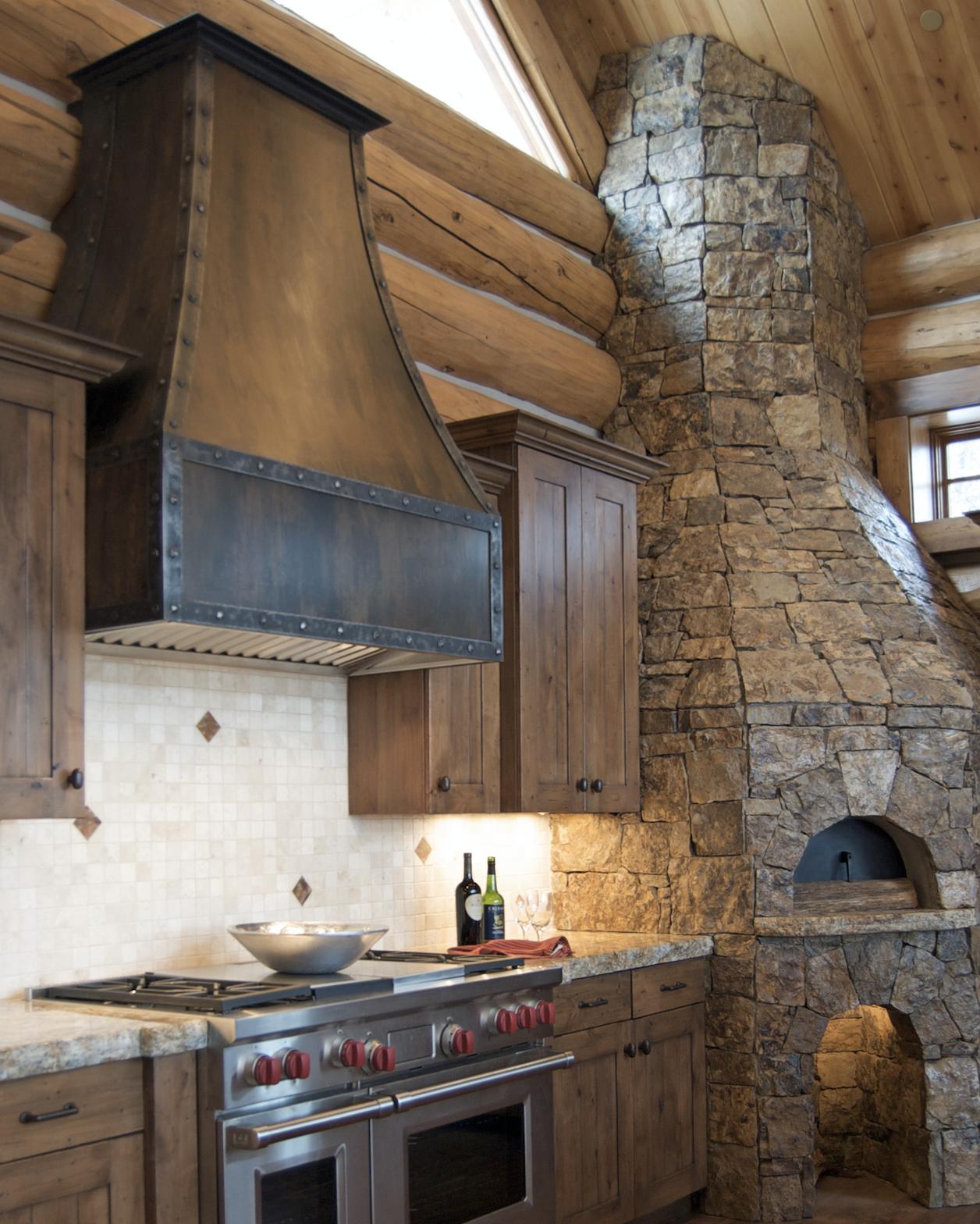 Raw Urth Designs Custom Range Hood Rustic Iron Steel Modern Mountain Home Home Cabin Kitchens