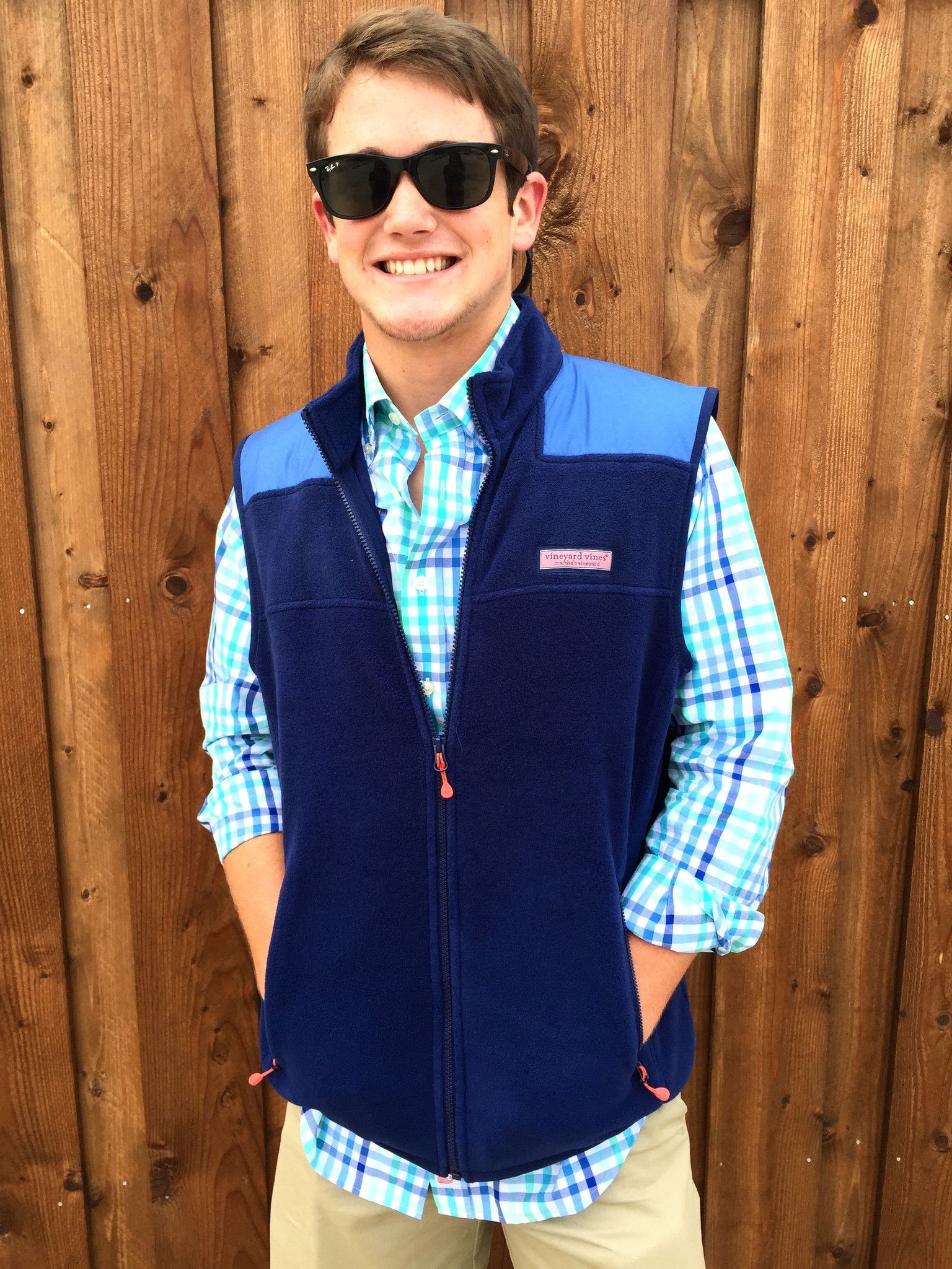 Vineyard Vines Fleece Shep Vest- Deep Bay from Shop Southern Roots ...