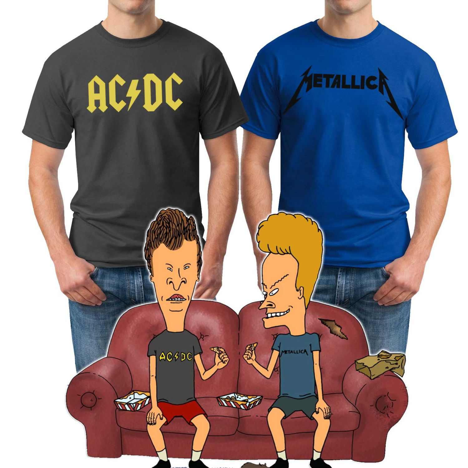 mtv beavis and butthead halloween costume t-shirts fan shirts adult