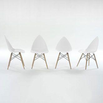 Chaise Delamaison achat Lot de 4 ESTHER Chaise bois massif