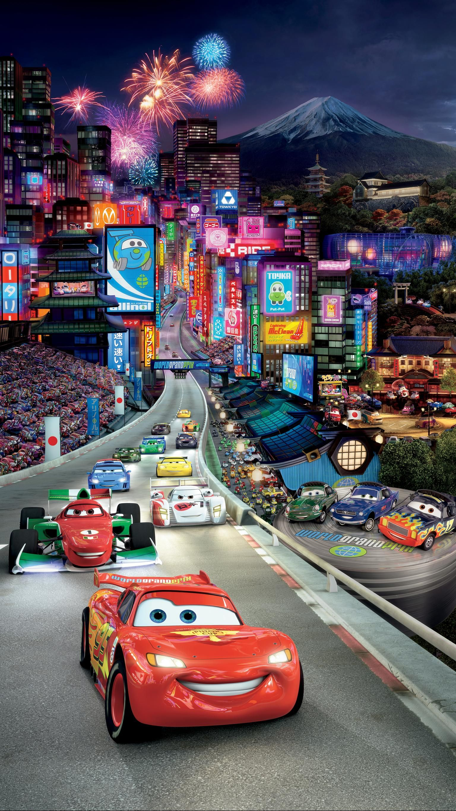 Cars 2 Phone Wallpaper