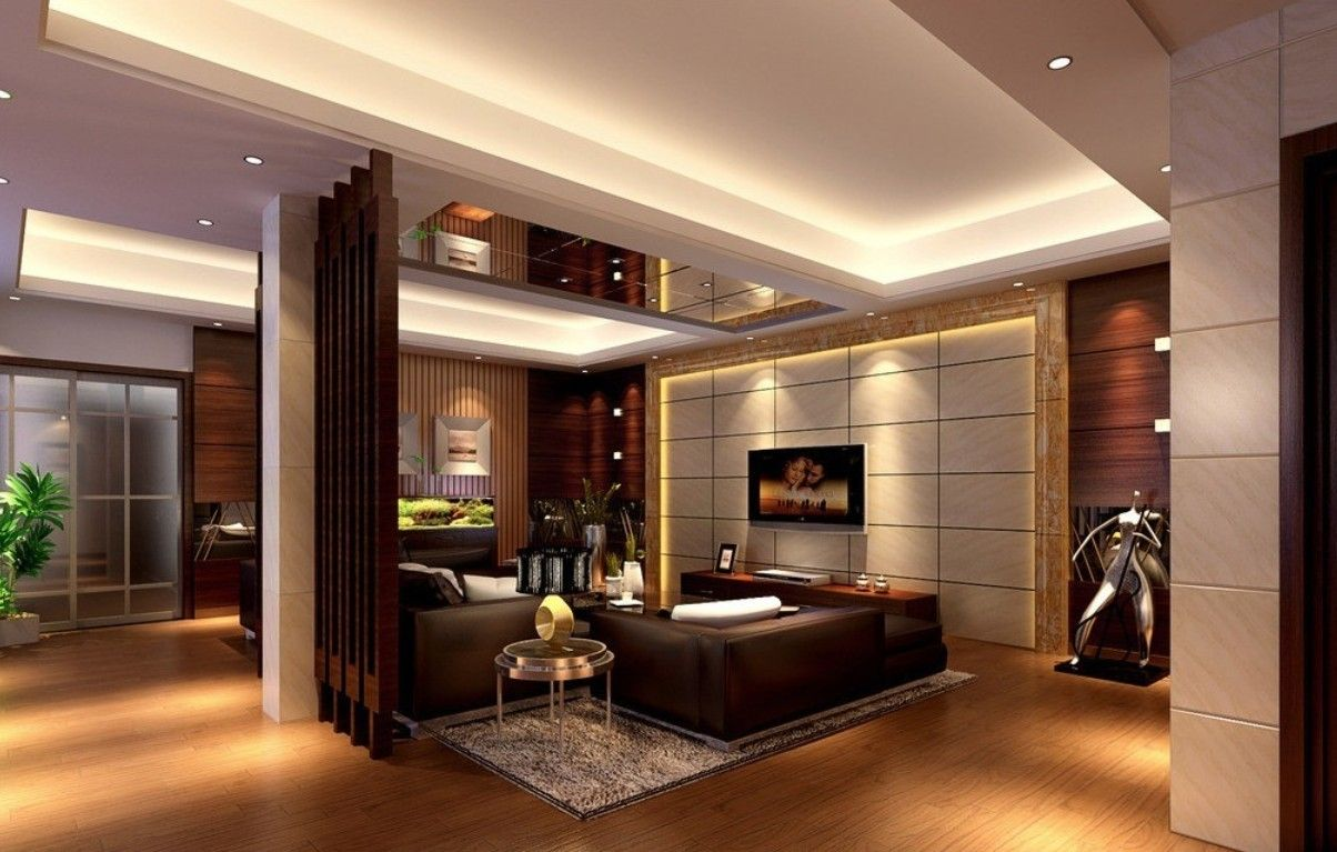 Duplex house interior designs living room 3d house free for Modern mansion interior