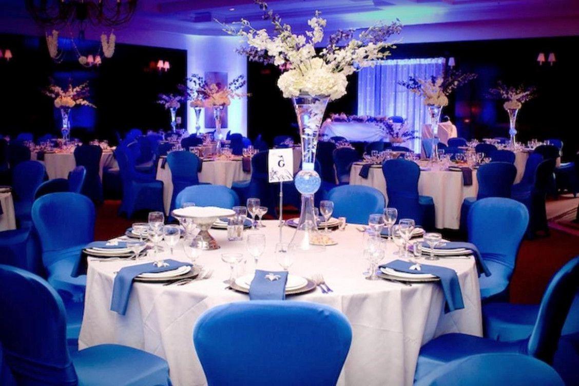 Wedding decorations with royal blue  Royal Blue And Black Wedding Decorations  WEDDING PARTY DECOR