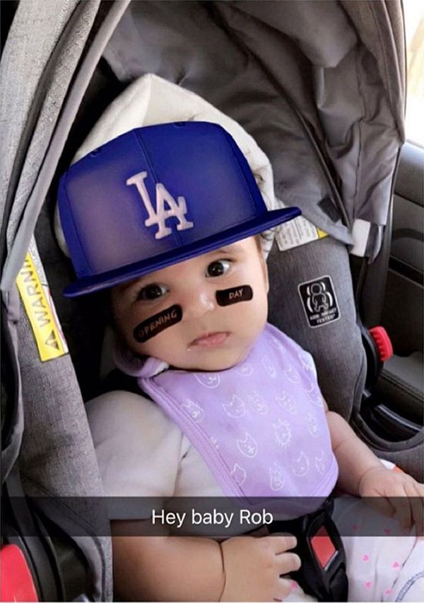 Dream Kardashian Is A Total Replica Of Rob In Adorable Baseball Snapchats — Pics