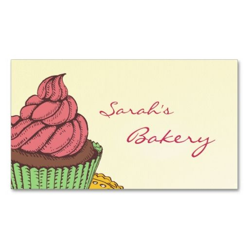 Bakery cupcake business cards business cards bakeries and business bakery cupcake business cards make your own business card with this great design all you need is to add your info to this template reheart Choice Image