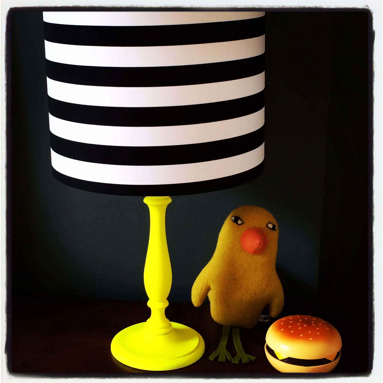 Chevron lampshade in black & white | Love Frankie
