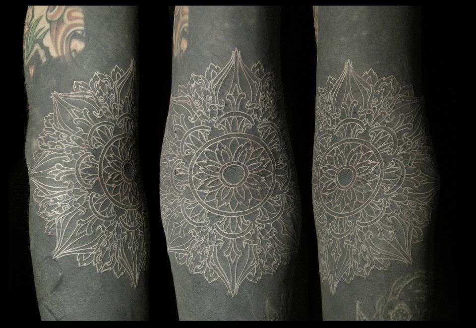 Black Tattoo With White Ink: // White Ink Over Blackwork // (With Images)
