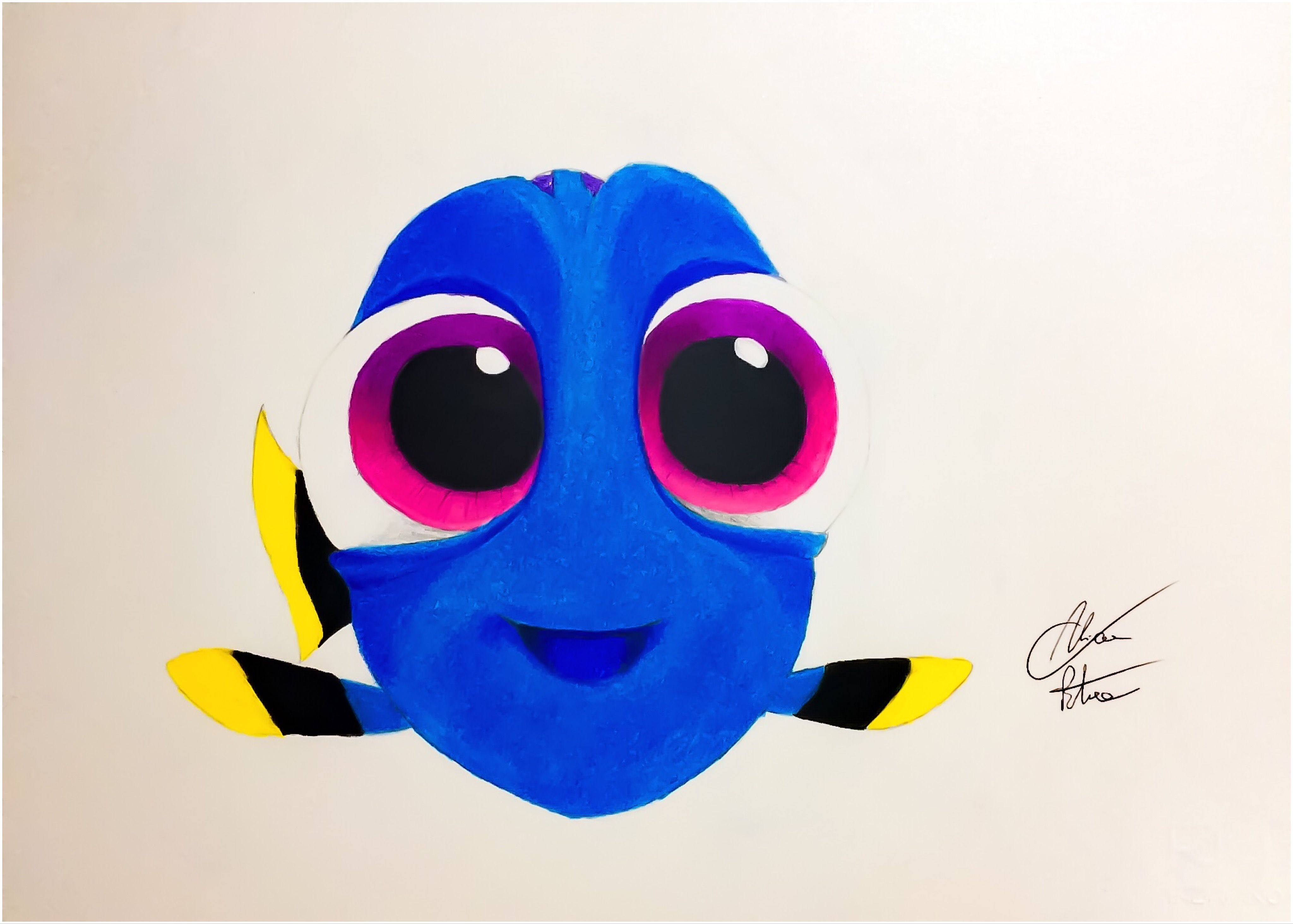 how to draw baby dory