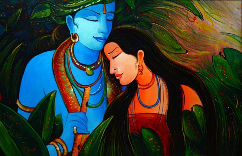 Radha Krishna Love Story Painting Radha Krishna Love Paintings
