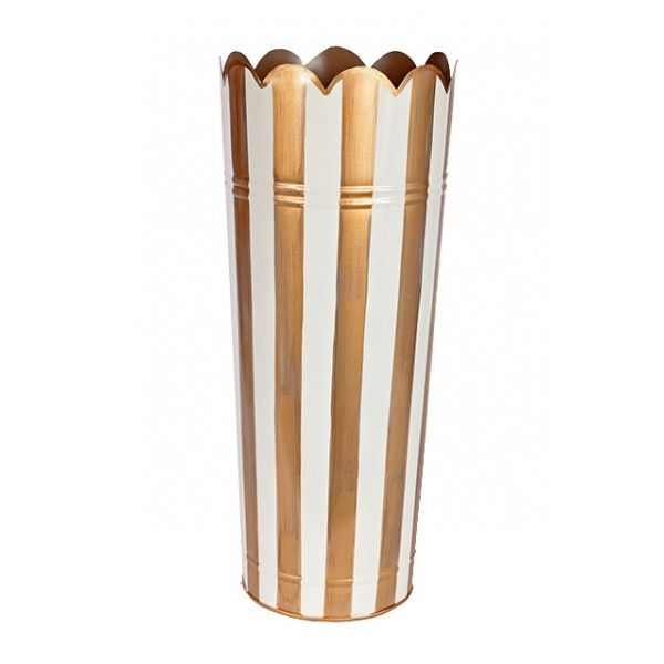 Brushed Stripe Umbrella Stand Cream Gold Umbrella Stand Umbrella Coat Racks And Hooks