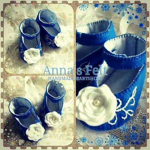 Baby shoes..0-3m..blue n white