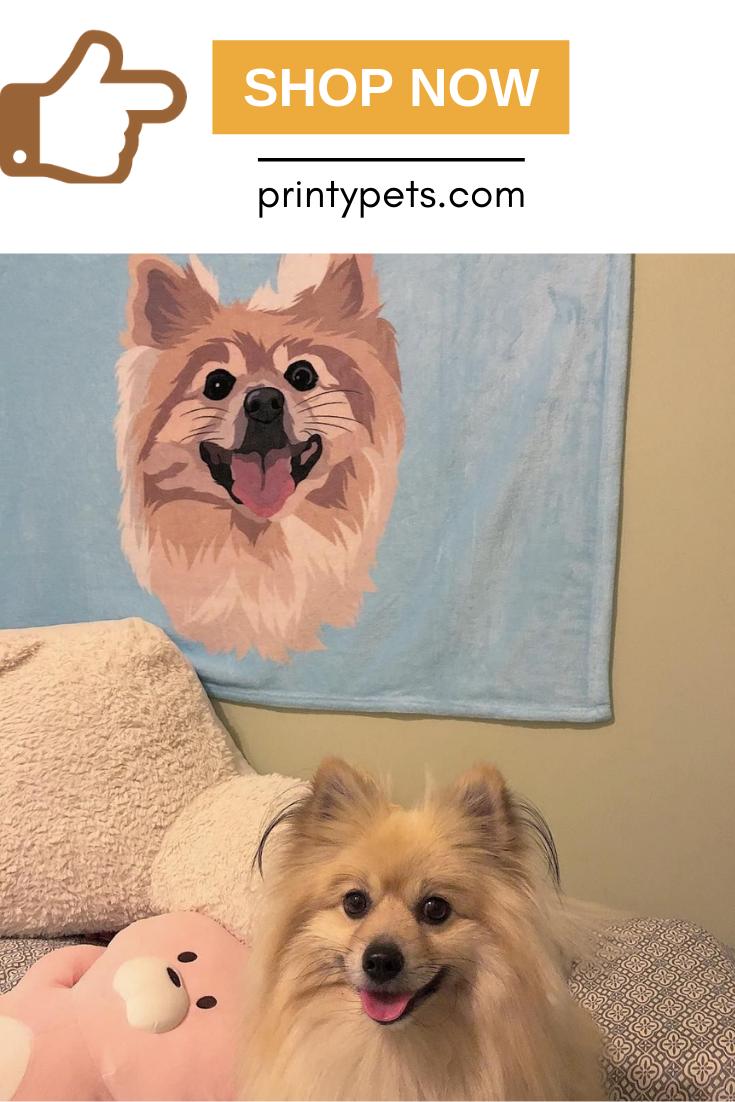 Custom Pet Print Fleece Blanket Pets Puppy Beds Customized Fleece Blanket