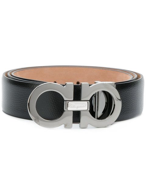 SALVATORE FERRAGAMO double Gancini buckle belt. #salvatoreferragamo #belt