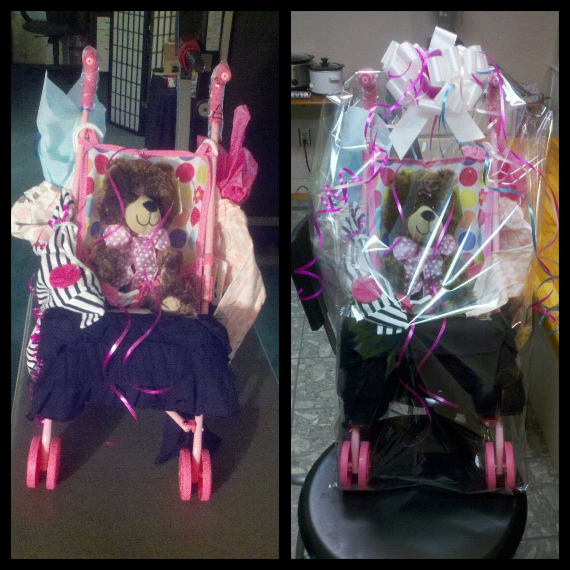 Stroller Gift Basket For One Year Old Girl Ciajweddings