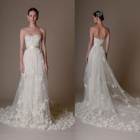 48 Gorgeous Applique Wedding Dresses | HappyWedd.com | Gelinlik ve ...