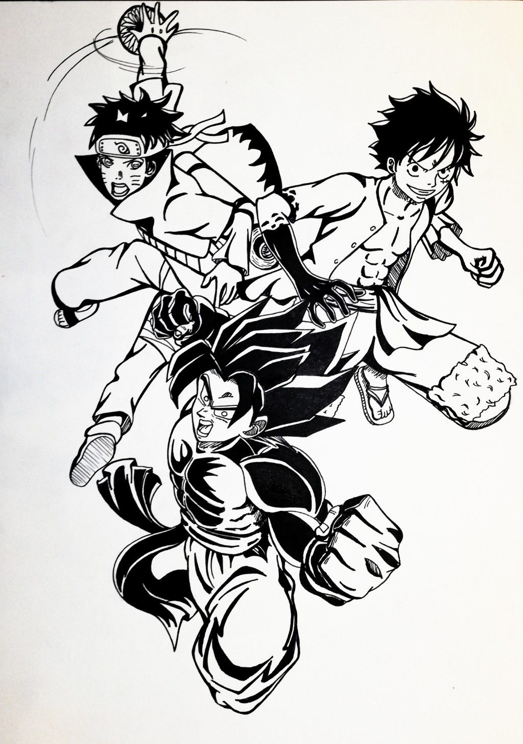Now with his perfected ultra instinct he can dodge any attack without any toll on his body. goku x naruto x luffy   Anime crossover, Luffy, Goku