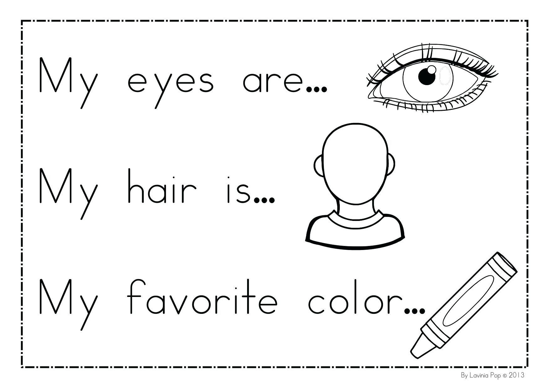 All About Me Coloring Pages For Preschoolers Free Library