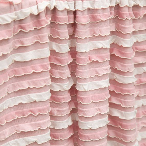 Ruffle Blanket Pink And White Multi Color By Izzysattic On