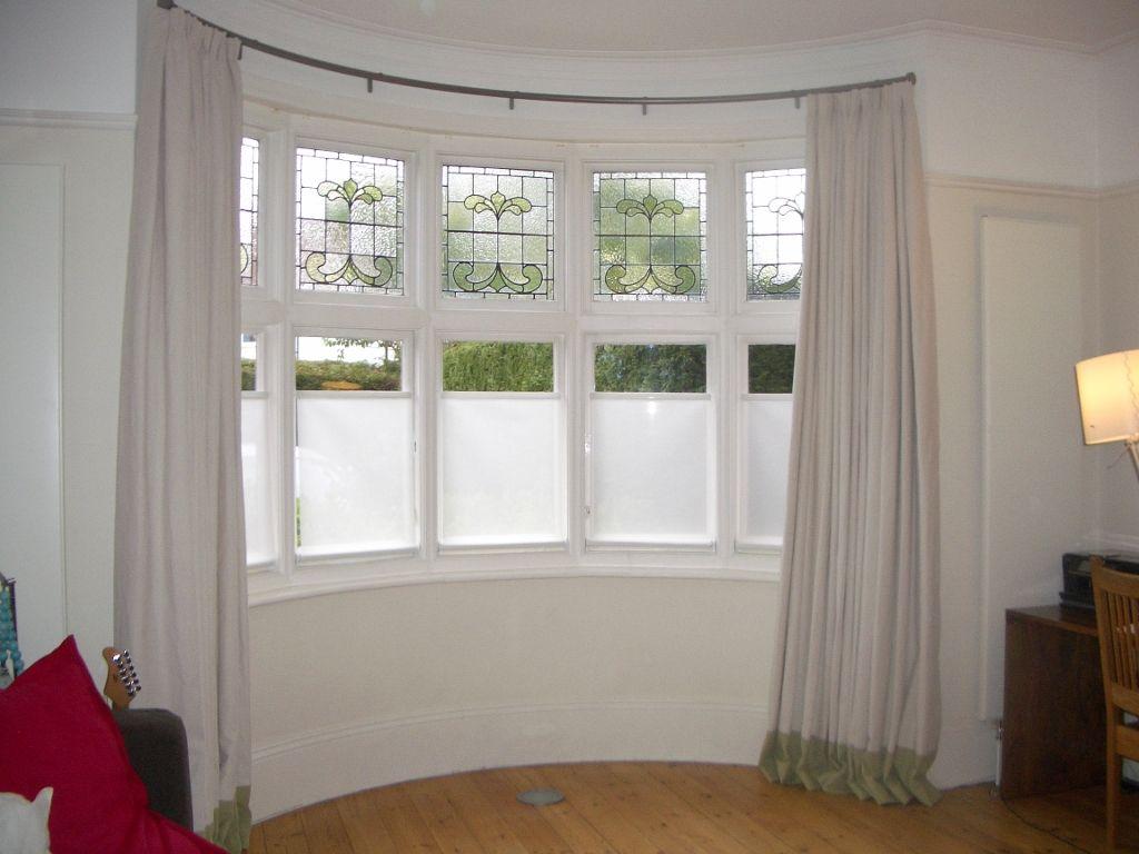Furniture Diy Bay Window Curtain Rod Set Also Bay Window Track
