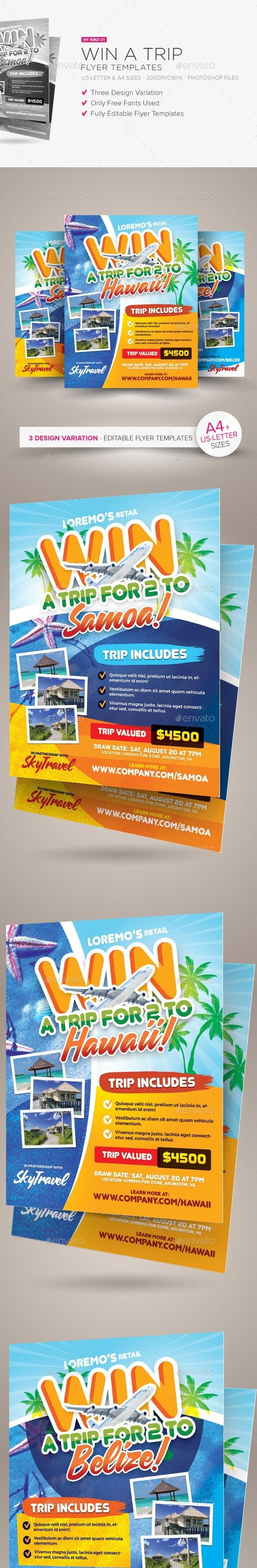 Sweepstakes flyer template