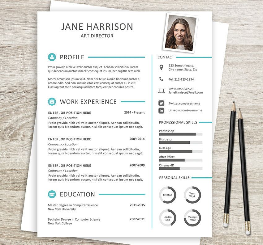Resume and cover letter templates in Word and PSD formats