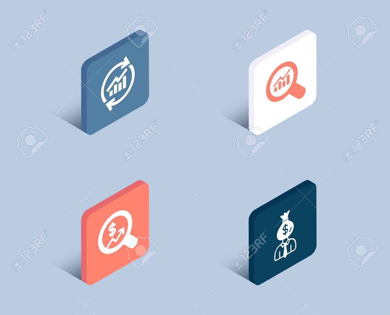 Set Of Update Data Data Analysis And Currency Audit Icons