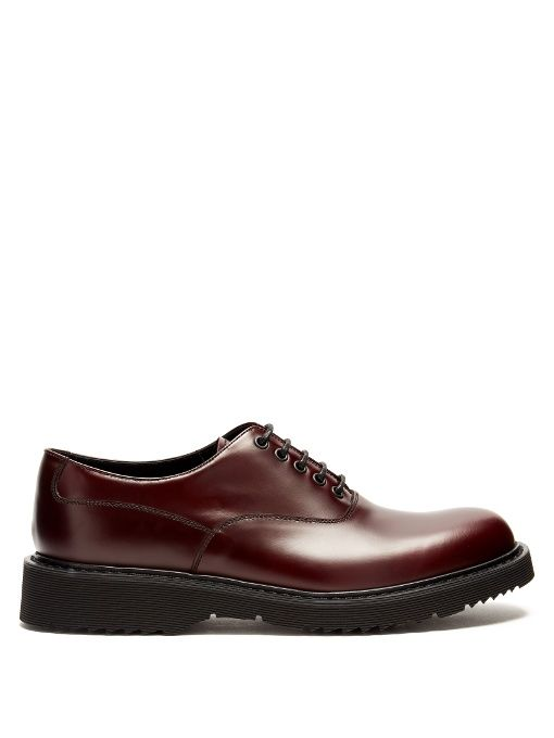 Raised-soled derby shoes Prada X3BWXvMF