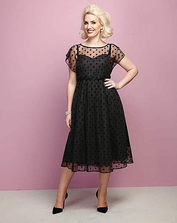 Claire Richards Spot Mesh Prom Dress | Blonde Haired Ladies ...