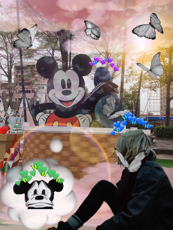 PicsArt Halloween wreath, Mickey mouse, Mickey