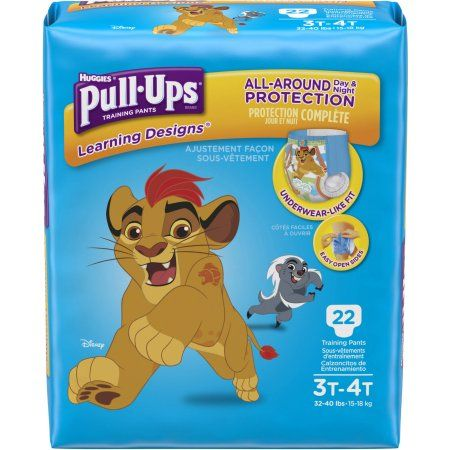 Huggies Pull-Ups Boys' Learning Designs Training Pants, Size 3T/4T (Choose Pant Count)