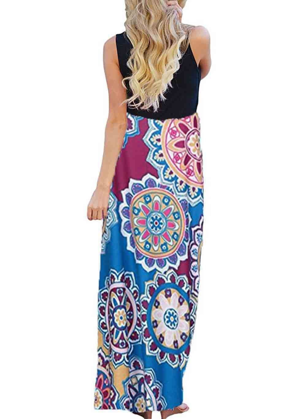 Hot pink maternity maxi dress  Maternity Dresses  Tooffee Womens Summer Ethnic Style Floral Print
