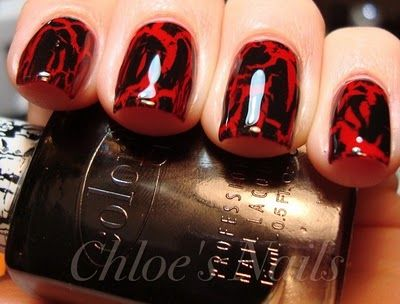 Tried doing this with my nails today but it didn't turn out as pretty.