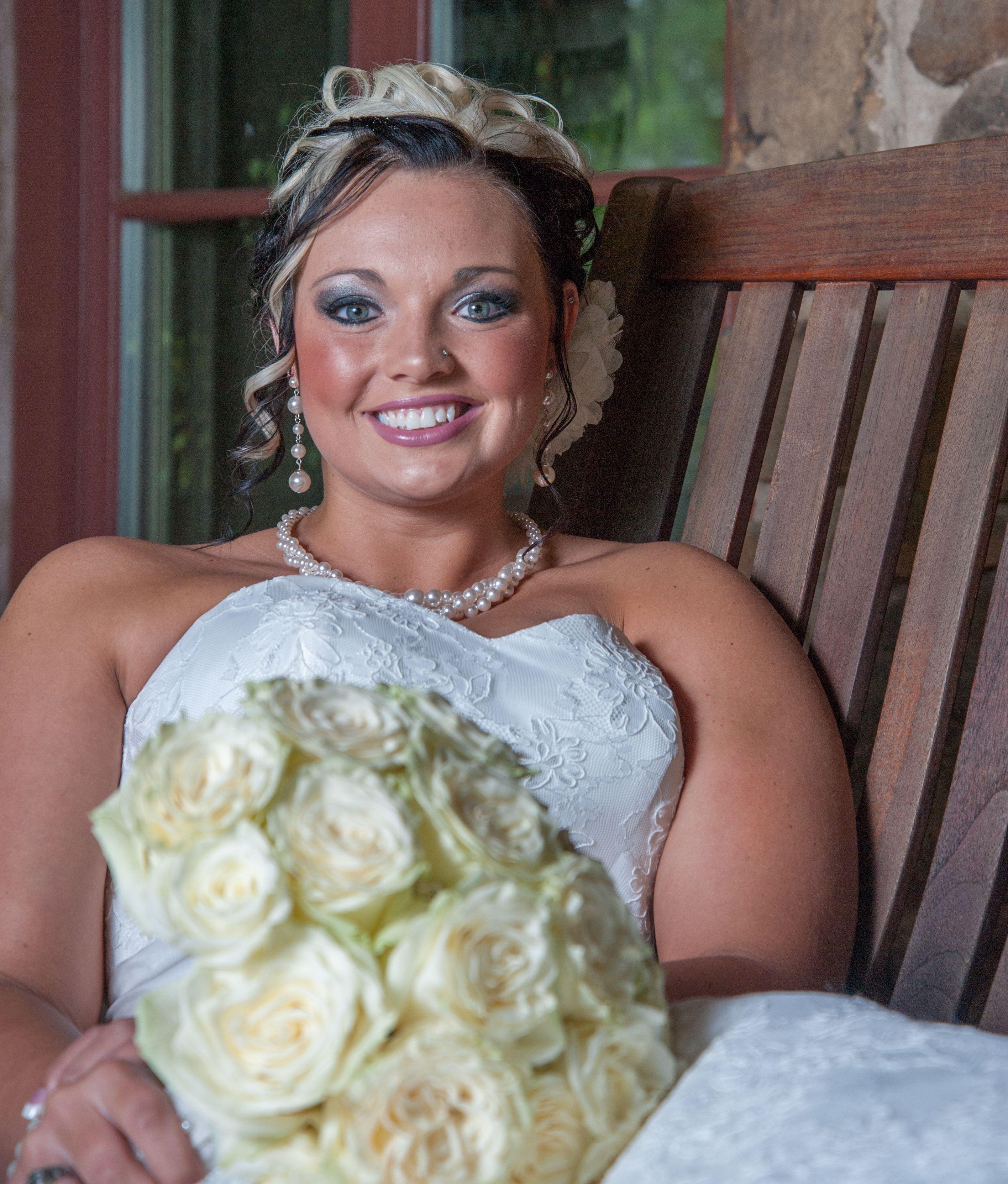 Wedding dresses tulsa  Bride formal using natural light and flash through umbrella Tulsa