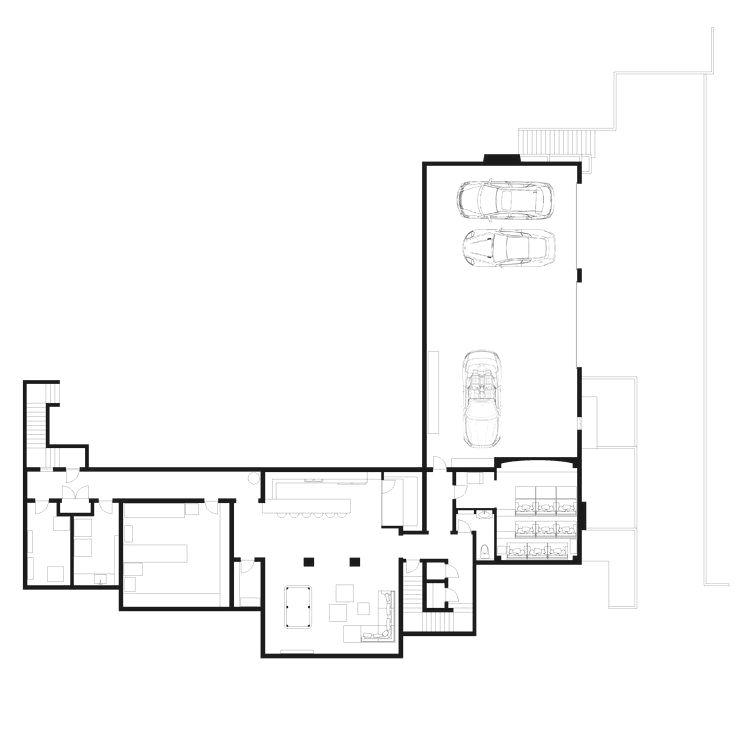 Basement floor plans - Mechanical room, Laundry room ...