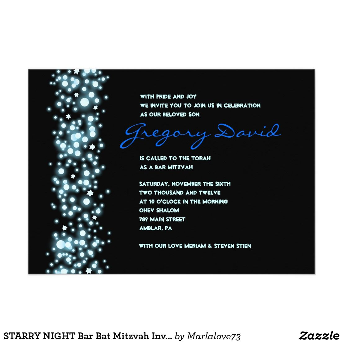 Bar Mitzvah Invitations For Boys Modern Unique Traditional Sports Blue Invitation Wording Black Ideas Invite Stars