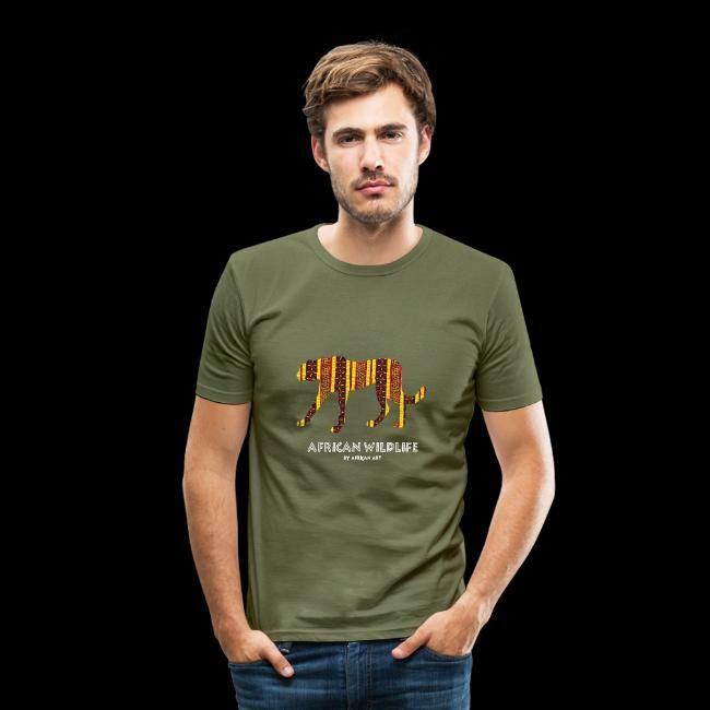 African Wildlife - Gepard | Männer Slim Fit T-Shirt ...